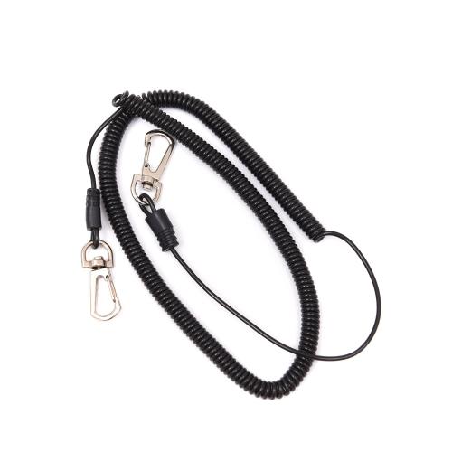 Lixada Arrotolato Pesce Missed corda/ protettore Pesce Pole/ corda elastica/ Pesca Strumento, 1 Pz, 5m