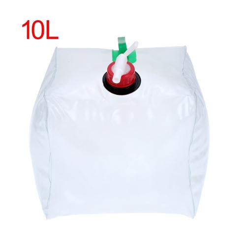 3L / 5L/10 L / 15L / 20L PVC exterior plegable plegable plegable bolsa de agua transparente agua potable portador envase Camping Picnic