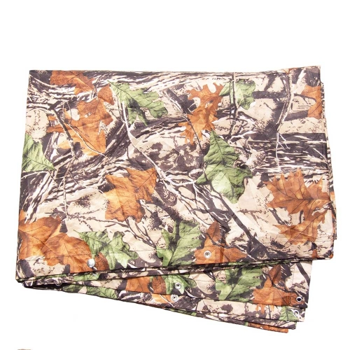 3 in 1 Multifunctional Outdoor Military Travel Camouflage Raincoat Poncho Backpack Rain Cover Waterproof Tent Mat Awning Mountaineering Climbing Hunting Cycling Camping Hiking