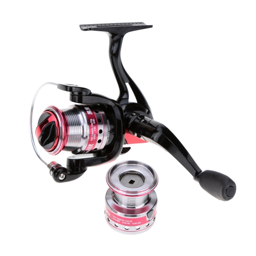 Trulinoya HY-1000 / HY-2000 9+1BB 10 Ball Bearings 5.2:1 Fishing Reel Spinning Wheel + Spare Aluminium Spool