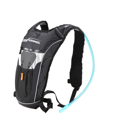 Lixada unisex 5L Zaino escursionismo borsa -- con 2L sacchetto della vescica dell'acqua -- per campeggio/ casual/ equitazione/ bici / Sport Outdoor zaino corsa esterna