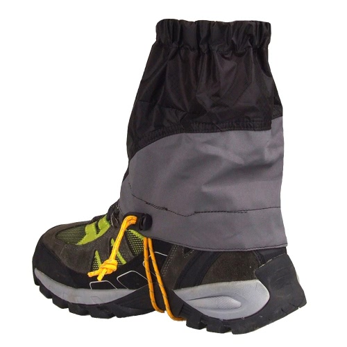Outdoor Silicon Coated Nylon Waterproof Ultralight Gaiters Leg Protection Guard Hiking Climbing Trekking