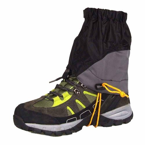 Outdoor Silicon beschichtetes Nylon Wasserdicht Ultraleicht Gamaschen Beinschutzbügel Wandern Klettern Trekking