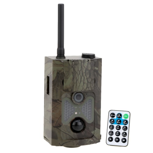 Lixada 120° Wide Lens Portable 2G/GSM/MMS/SMTP/SMS Wildlife Hunting Camera 12MP HD Digital Infrared Scouting Trail Camera 940NM IR LED Night Vision 1080P Video Recorder