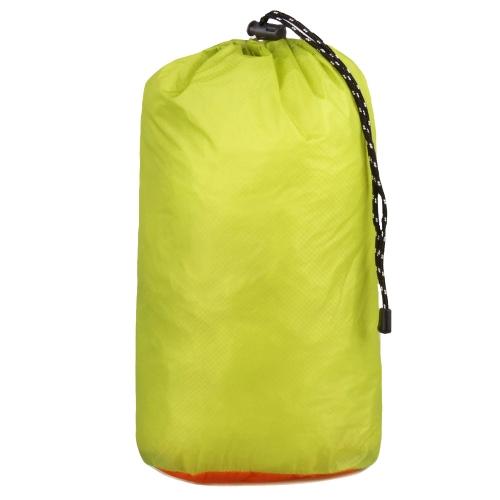 防水加工  収納袋 引きひも ポーチ ブルー オレンジ グリーン (靴、衣服、食糧入れ) 旅行、アウトドア、カッパ、登山用 ドラム型