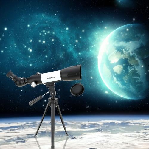 Visionking CF50350 120X 350 / 50mm Zoom Cannocchiale Telescopio  per osservazioni terrestri e astronomiche  con Equipaggiamento completo + Zaino+ Treppiede metallico