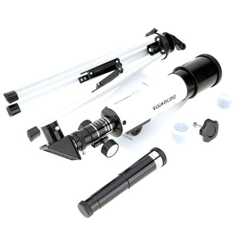 Visionking 360/50mm Zoom Cannocchiale Telescopio  per osservazioni terrestri e astronomiche + Treppiede metallico