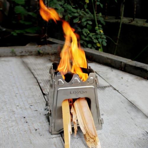Estufa de Lixada compacto plegable de madera para Picnic al aire libre de cocina Camping