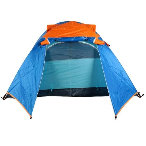 Outdoor Campeggio impermeabile doppio strato 2-3 persone tenda con borsa