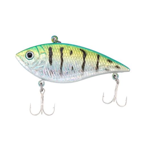 7cm 12g VIB Vibration Hard Bait with 2 Treble Hooks Perch Killer Fishing Lure Fishing Tackle