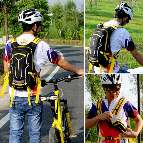 Lixada Cycling Backpack 18L Biking Daypack with Rain Cover Ultralight Breathable Water-resistant Road Bike Bicycle Rucksack for Outdoor Sports Hiking Travel