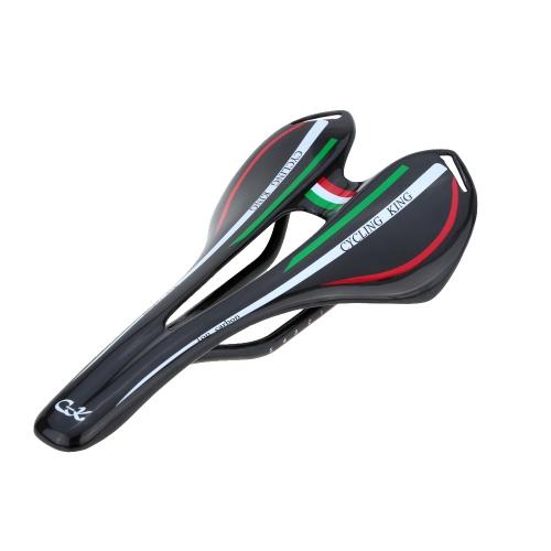Full Carbon Fiber Super Lightweight MTB Mountain Bike Road Bike Cycling Cushion Hollow Saddle Bicycle Seat 27 * 14cm 116g Image