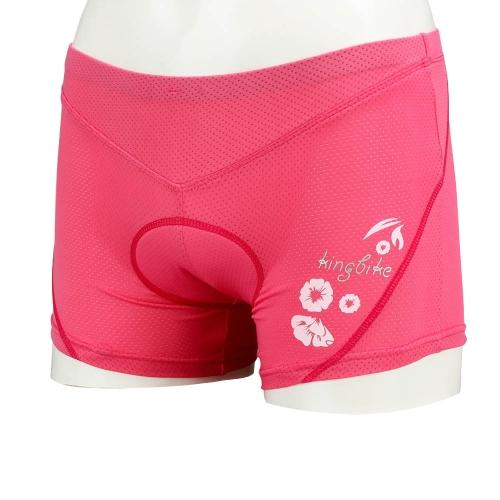 Lixada Ropa Interior Ciclismo al Aire Libre Almohadilla de 3D Esponja Pantalones Cortos Mujer