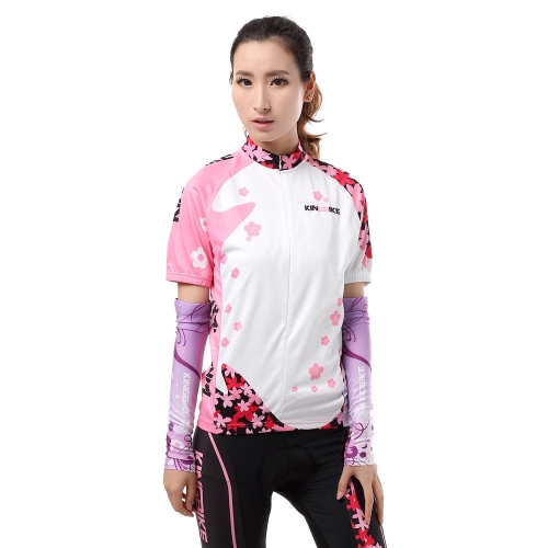 Women Outdoor Breathable Short Sleeve Cycling Jersey Short Pants