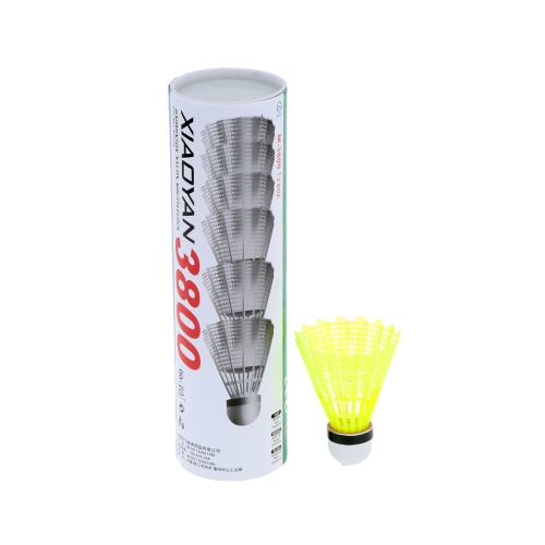 6Pcs Training Nylon Shuttlecocks Badminton Ball Outdoor Sports Accessories
