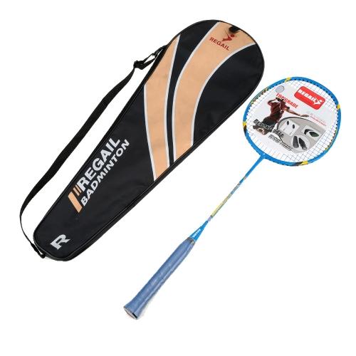 1Pcs Carbon Fiber + Aluminum Alloy Training Badminton Racket Racquet with Carry Bag Sport Equipment Durable Lightweight