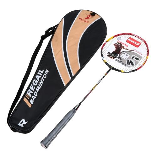 1pcs in fibra di carbonio + alluminio lega formazione Badminton racchetta racchetta con Carry Bag Sport attrezzature Lightweight durevole