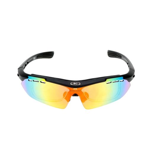 ベース キャンプのアウトドア スポーツをサイクリング偏光メガネ軽量 TR90 フレーム ゴーグル眼鏡 6 レンズ UV400 に乗って太陽メガネ自転車バイク