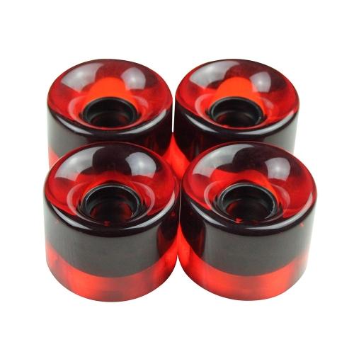 4Pcs 60 * 45mm Transparent PU Cruiser Skateboard Wheels