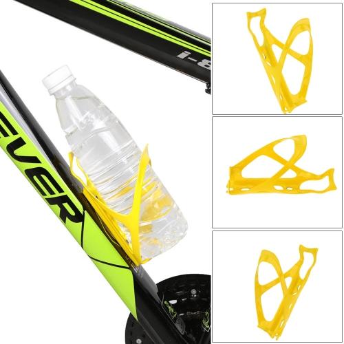 Fibra de carbono MTB bicicleta amarilla brillante botella de agua titular de la jaula con tornillos