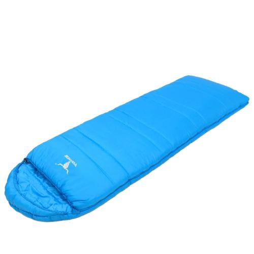 Открытый кемпинг облегченные полые волокна двойных слоев взрослых спальный мешок конверт стиль