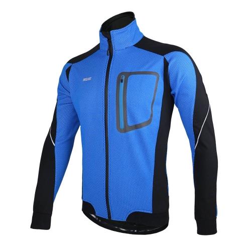 ARSUXEO Winter Warm Heiß Radfahren Lang Ärmel ccJacket Fahrrad Kleidung Winddicht Jersey MTB Mountainbike Jacket