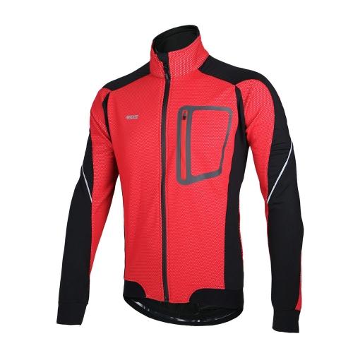 ARSUXEO inverno caldo cicli termici Long Sleeve Jacket biciclette abbigliamento antivento Jersey MTB Mountain Bike Jacket