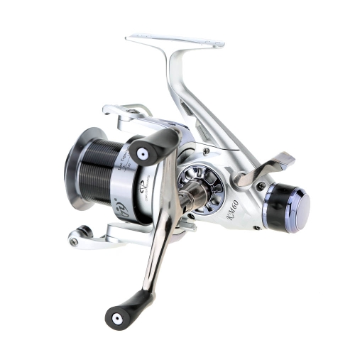 KM60 10+1BB 5.2:1 Double Discharge Force Metal Carp Spinning Fishing Reel