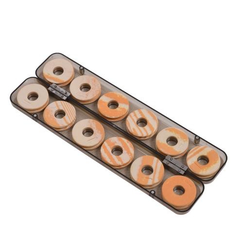 12pcs arancione della gomma piuma pesca bobina bobine plastica Storage Box caso lenza
