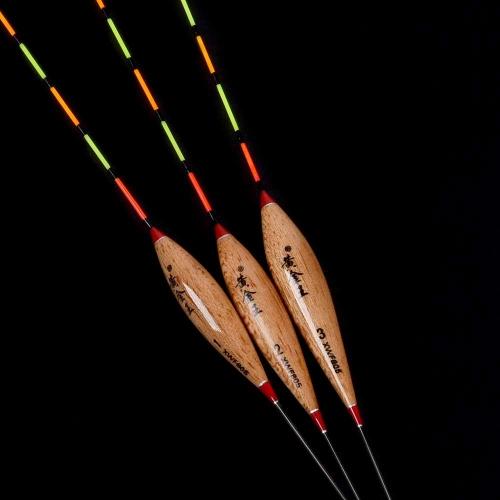 3шт Рыболовные Поплавки Боббер Барр Деревянная Рыболовная Снасть Инструменты