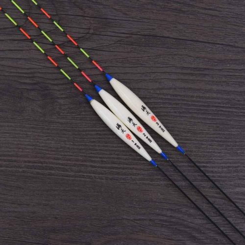 Flotadores de pesca 3pcs Bobbers Barr madera pesca herramientas