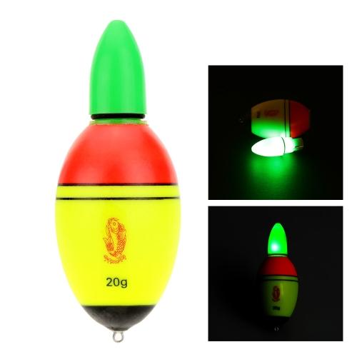 Galleggiante da Pesca EVA Luce Elettronica Boa con 2 Batterie a Bottone Attrezzatura da Pesca
