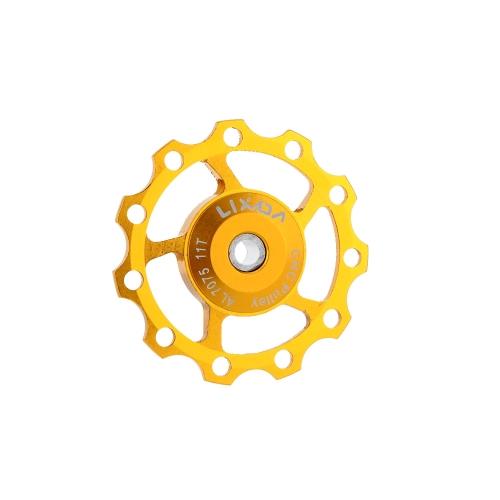 Lixada MTB Mountain Bike Road biciclette posteriore deragliatore 7075 alluminio lega 11T guida rullo puleggia Jockey ruota parte accessorio