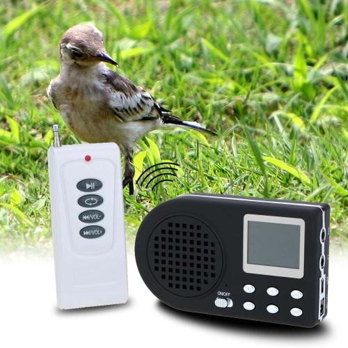 Caccia all'aperto Decoy uccello chiamante uccello suono altoparlante amplificatore di Mp3 con telecomando