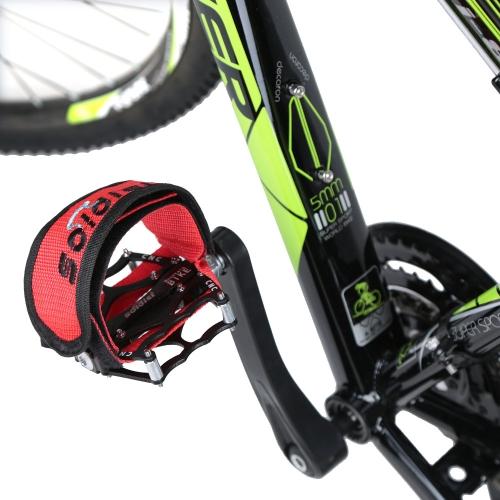 per la Bicicletta a Scatto Fisso Fixie BMX Bicicletta Doppie Cinghie Adesive Antiscivole Cinturino di Pedale Fermapiedi