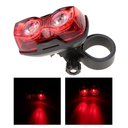 Escursione in Bicicletta Luminosa 2 LED 3 Modalità Fanale Posteriore della Bicicletta Luce Posteriore Sicurezza Lampeggiante