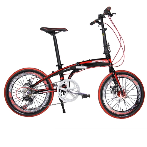 RT-20 Mini 20in Folding Bike Bicycle SHIMAN0 7 Gears Portable City Sports Bike Mechanical Brakes