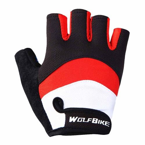 Wolfbike uomini donne bicicletta ciclismo guanti mezze dita