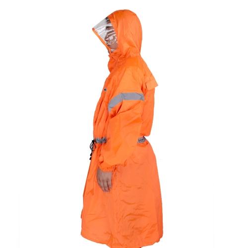BlueField zaino coprire un pezzo impermeabile Poncho pioggia Cape Outdoor escursionismo Camping Unisex Abbigliamento da pioggia