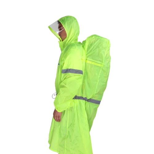 BlueField Rucksack decken ganzflächige Regenmantel Poncho Regen Cape Outdoor Wandern Camping Unisex Regenbekleidung
