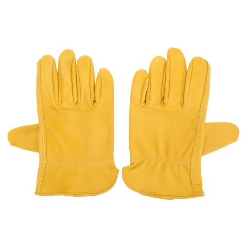 2ST Männer Frauen im freien Klettern Gartenarbeit Lammfell Handschuhe