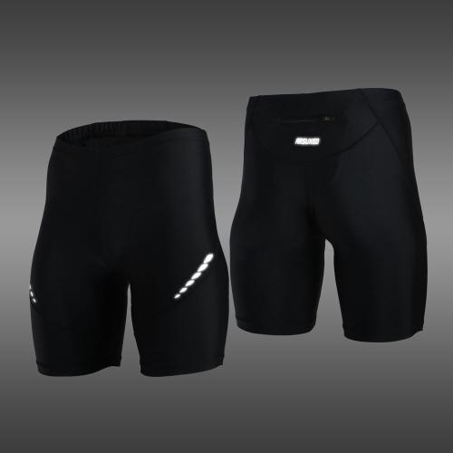 ARSUXEO elasticizzato traspirante ad asciugatura rapida compressione Pantaloncini ciclismo Running Tights Short