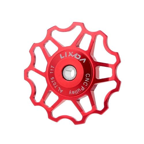 Lixada MTBマウンテンバイク/ロード自転車のリアディレイラー 7075アルミニウム合金製のCNC11Tガイドローラー  /アイドラープーリー/ジョッキーホイールのパーツアクセサリー シルバー