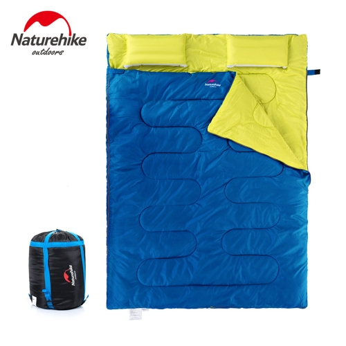 Naturehike Открытый Бивачный Спальный Мешок для 2 Человека & Подушка & Инфлятор & Сумка для Переноски