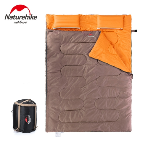 NatureHike Outdoor Camping 2 persone sacco a pelo & cuscini & gonfiatore & portando borsa