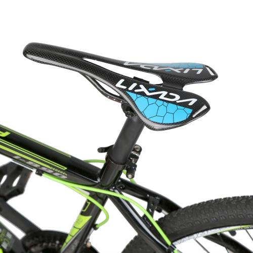 Lixada Черное Глянцевое Полное Углеродно-волоконное Супер Облегченное MTB Горное Велосипедное Дорожное Велосипедное Полое Седло Велосипедное Сиденье 275*143mm 120g