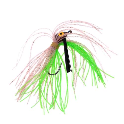 Testa piombo pesca con esche artificiali di gomma barba barba pesca esca con un gancio di 4,5 cm