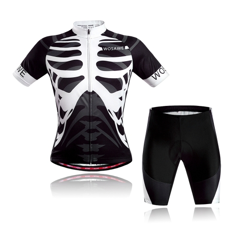 Men Women Breathable Outdoor Short Sleeve Cycling Jersey 3D Padded Shorts Set