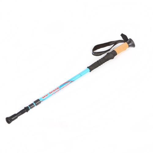 調節可能な伸縮ハイキング/ウォーキングスティック カーボンファイバー製トレッキングポール 3節超軽量 ブラック