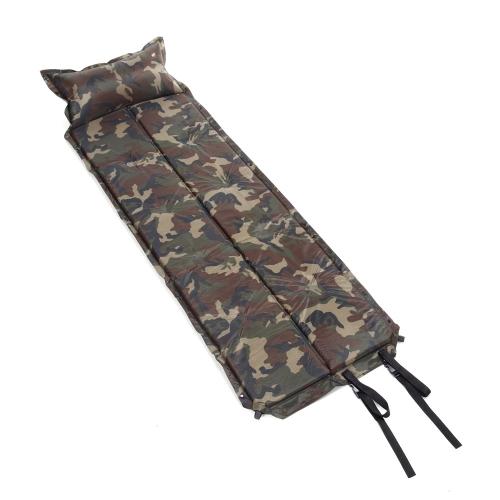 185 * 60 * 2,5 cm camuffare automatico gonfiabile autogonfiante impermeabile dormire Pad tenda materassino stuoia con cuscino per il campeggio all'aperto